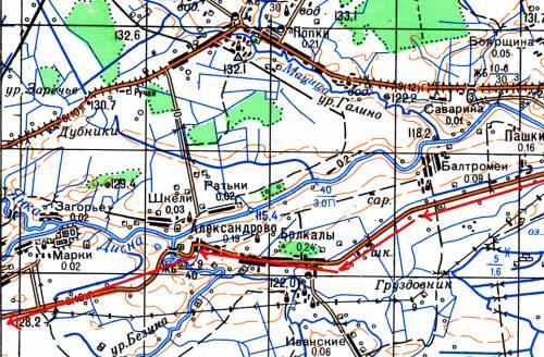 Продолжение маршрута д. Пашки – г. Шарковщина